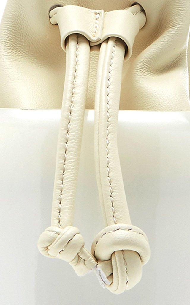 Olivia Acrylic And Leather Bucket Bag