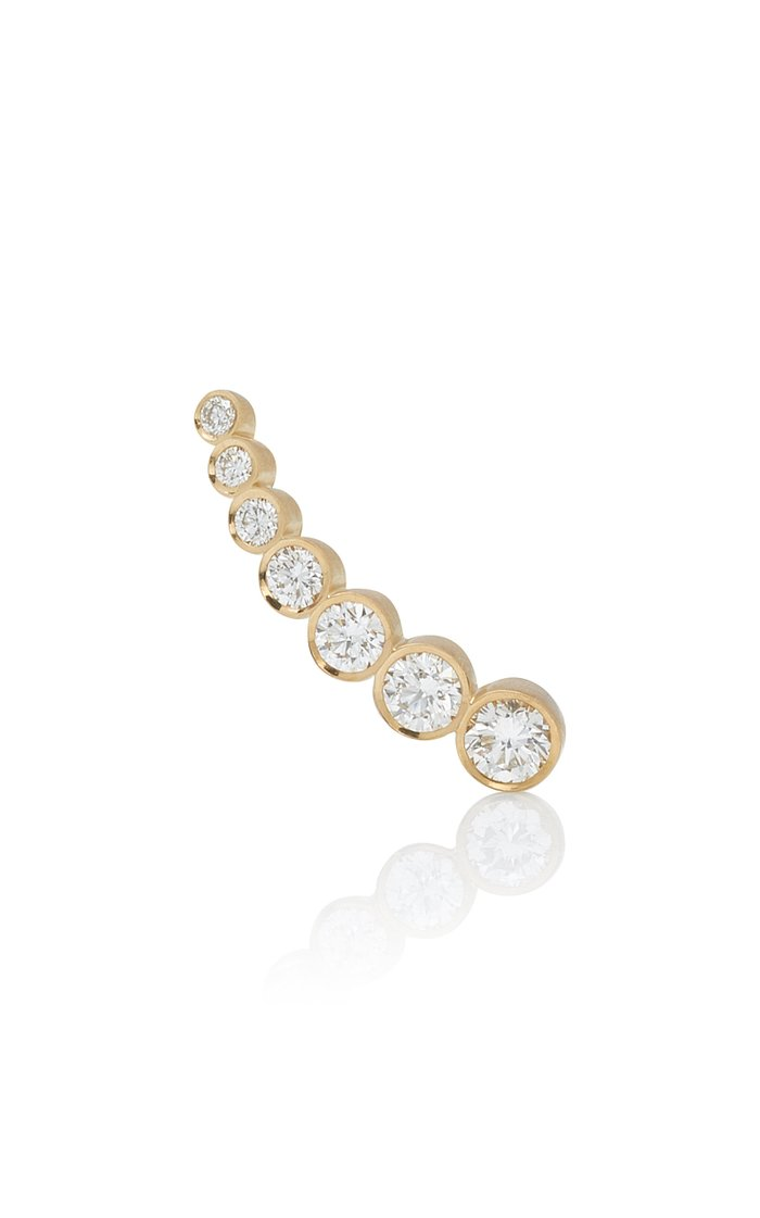 Croissant de Lune 18K Gold And Diamond Small Earring