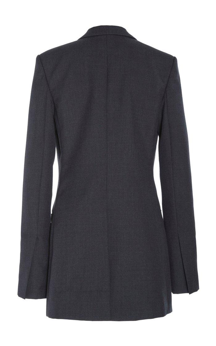 Notch Lapel Technical Wool Blazer