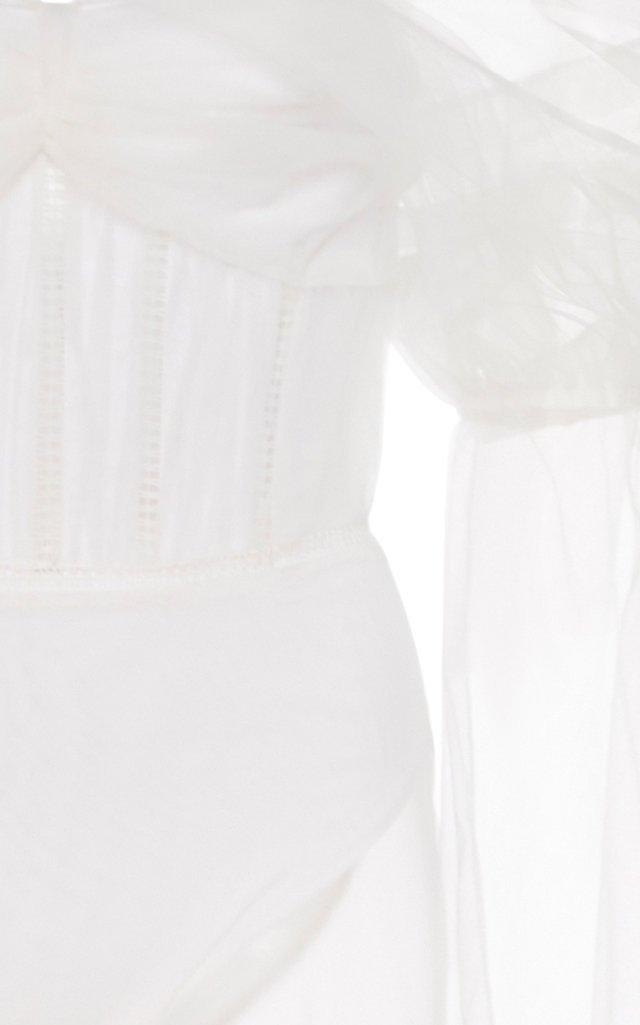 Ruffled Bodysuit Dress