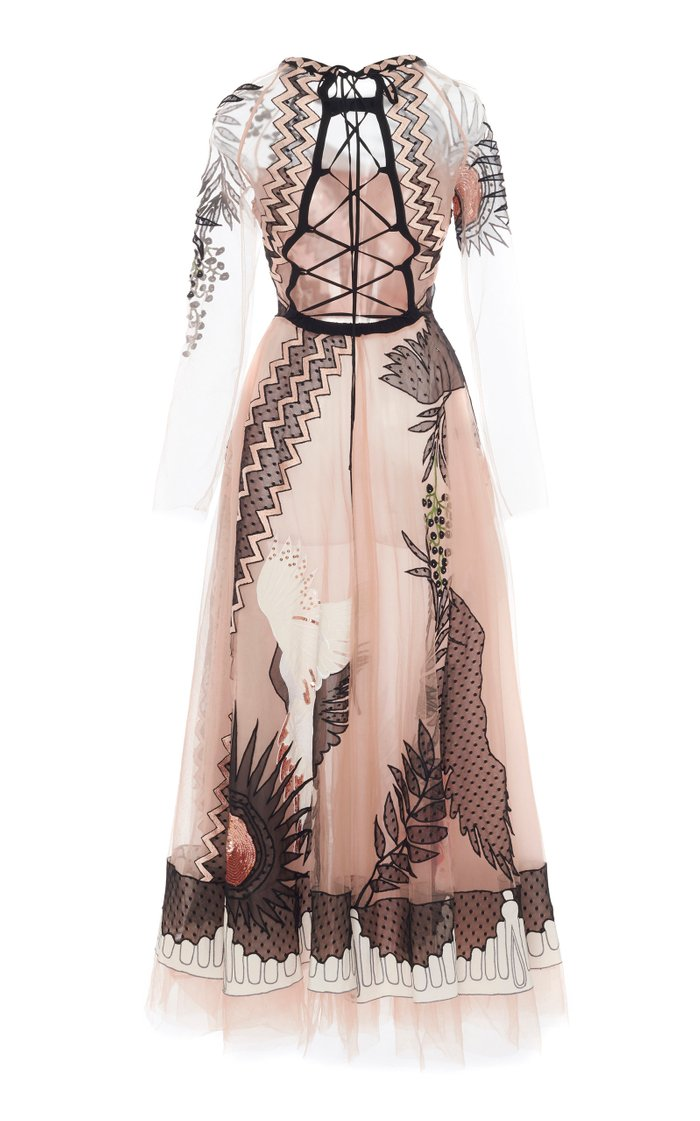 Opera Sequined Embroidered Tulle Gown