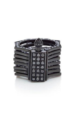 Reverso Rhodium and Black Diamond Convertible Ring