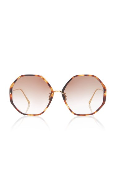 Cat-Eye Tortoiseshell Acetate And Titanium Sunglasses