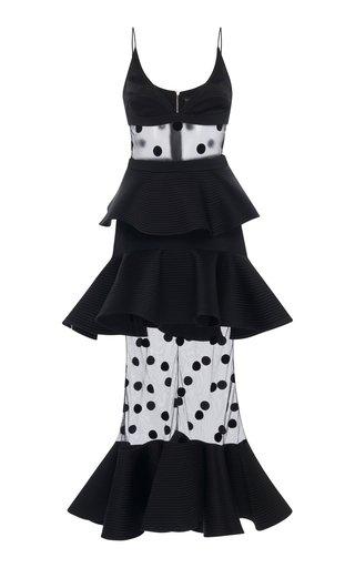 Peplum Polka Dot Cady Camisole Dress
