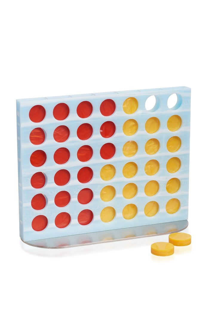 Four-In-A-Row Acrylic And Metal Game Set