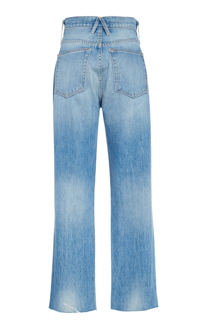 Hero Cropped High-Rise Straight-Leg Jeans
