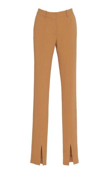 Skinny Slit-Hem Pants