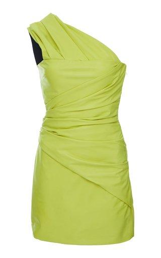 One-Shoulder Lambskin Dress