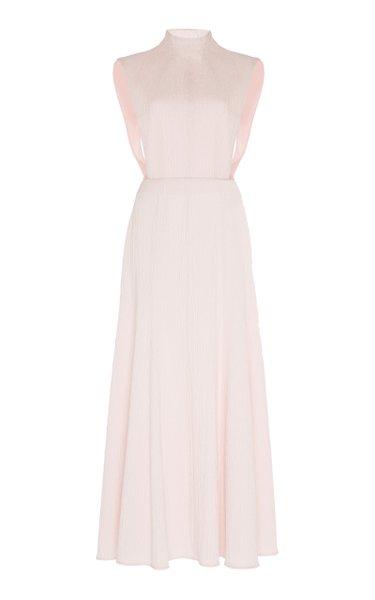 Iona Mock Neck Cotton-Blend Dress