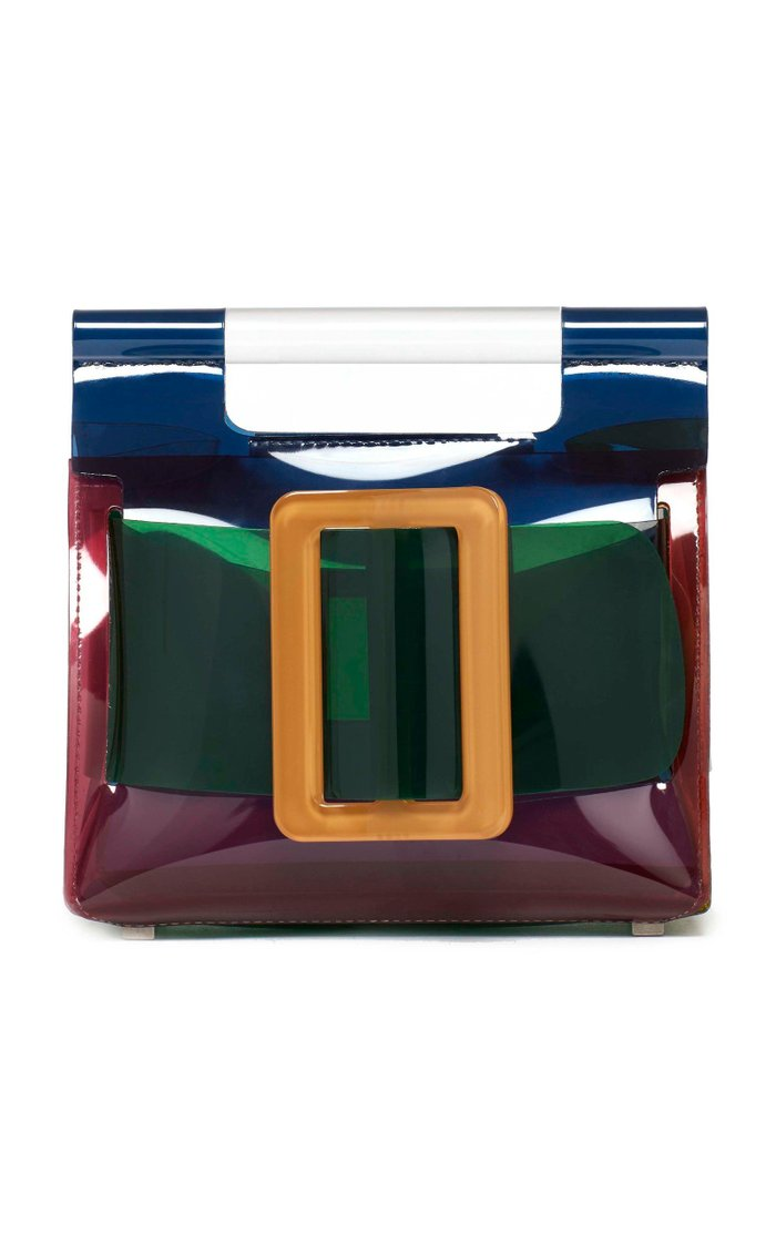 Romeo Colorblocked Transparent Bag