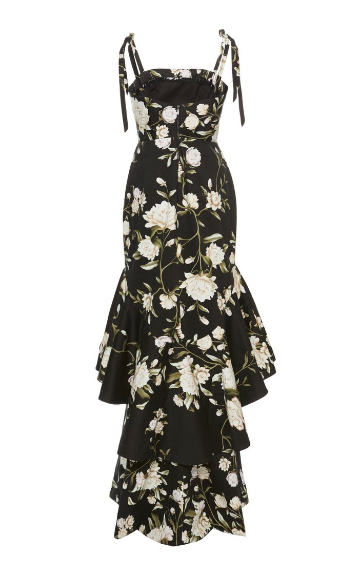 Exclusive Silence Of Asia Floral Cotton Sateen Dress