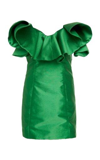 Emerald Taffetas Bustier Dress
