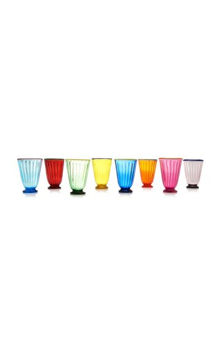 Set-of-Eight Assorted Rainbow Glasses