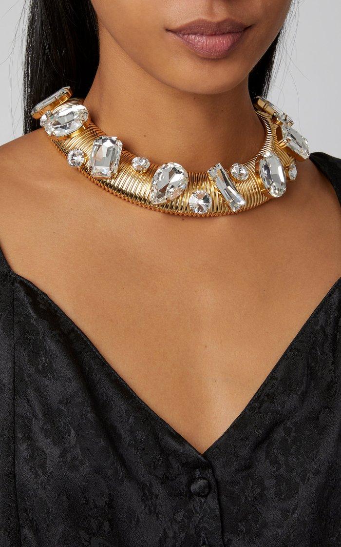 Crystal-Embellished Choker