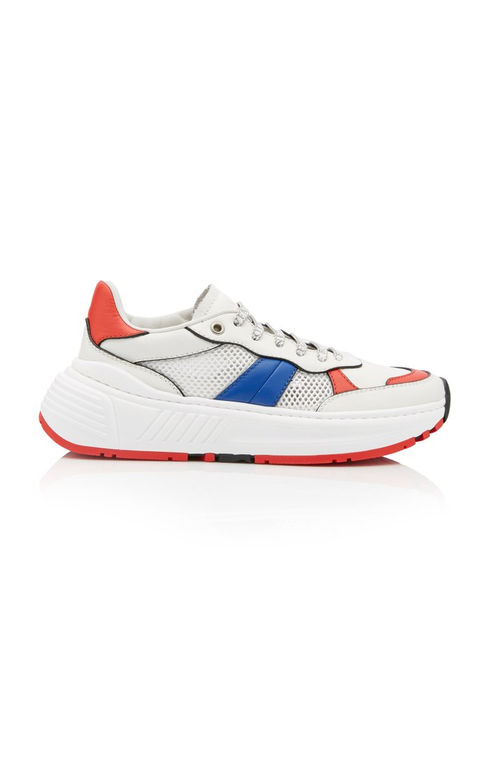 Speedster Color-Blocked Leather And Mesh Low-Top Sneakers