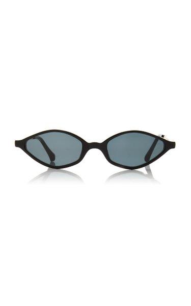 Alessandra Rich x Linda Farrow Skinny Oval Cat-Eye Sunglasses
