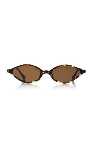 Alessandra Rich x Linda Farrow Skinny Oval Cat-Eye Sunglasses