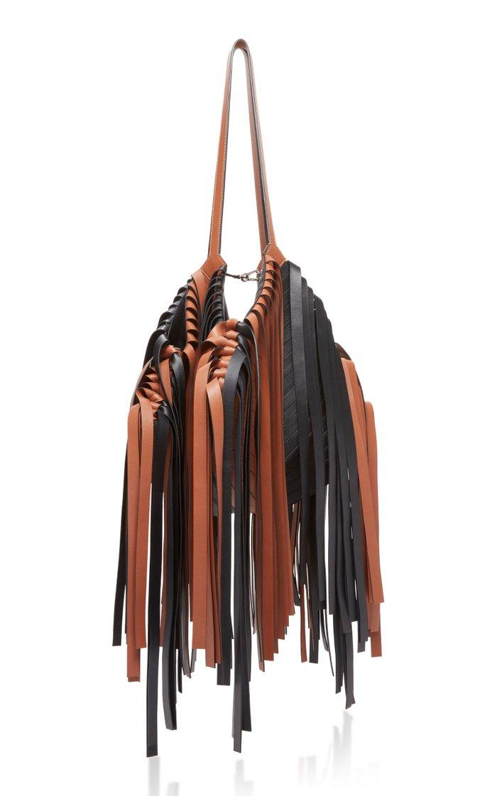 Cocotte Fringed Leather Shoulder Bag