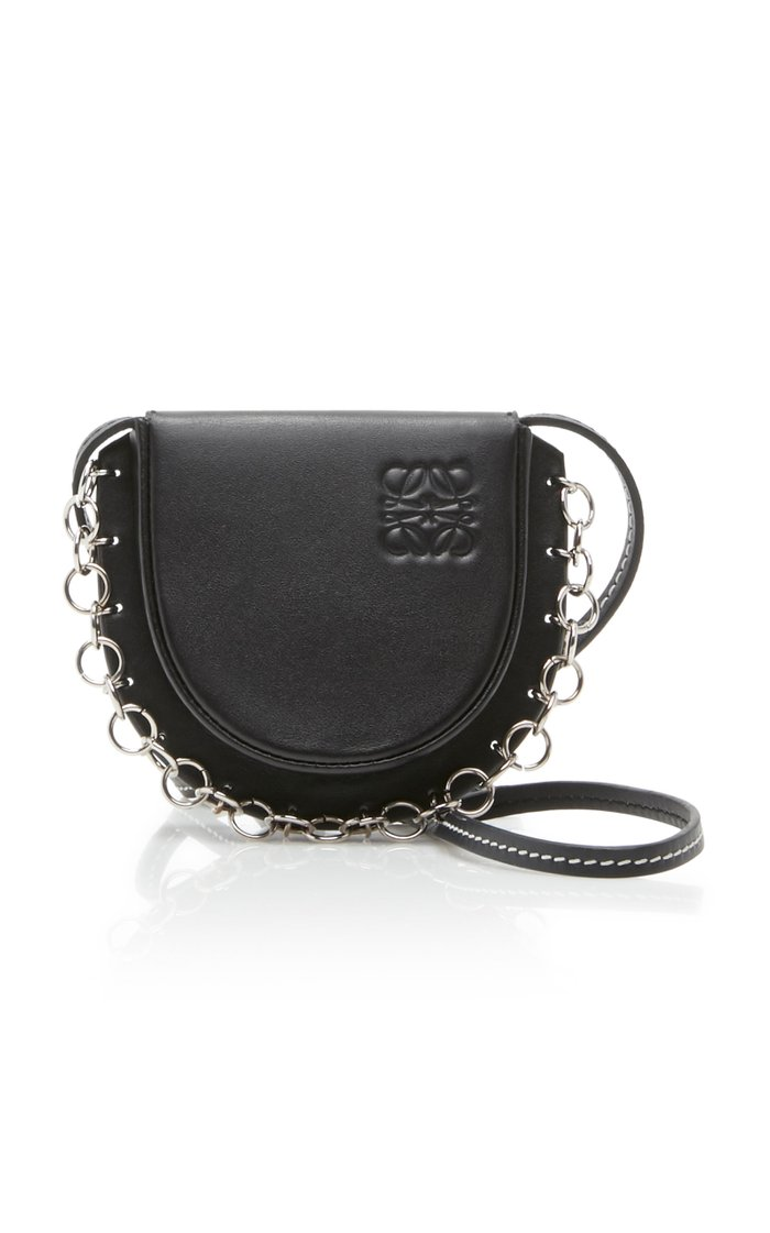 Leather-Heel Necklace Bag