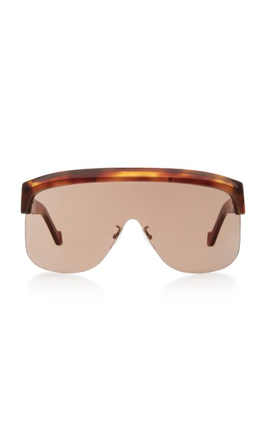 Oversized Tortoiseshell Acetate Sunglasses