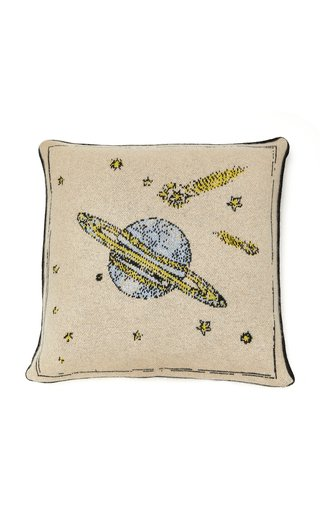 Galaxy Intarsia Cashmere Pillow