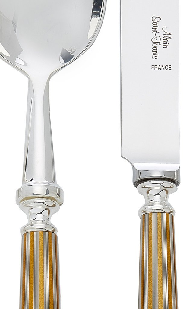 Lignes Silver and Gold-Plated Flatware Set