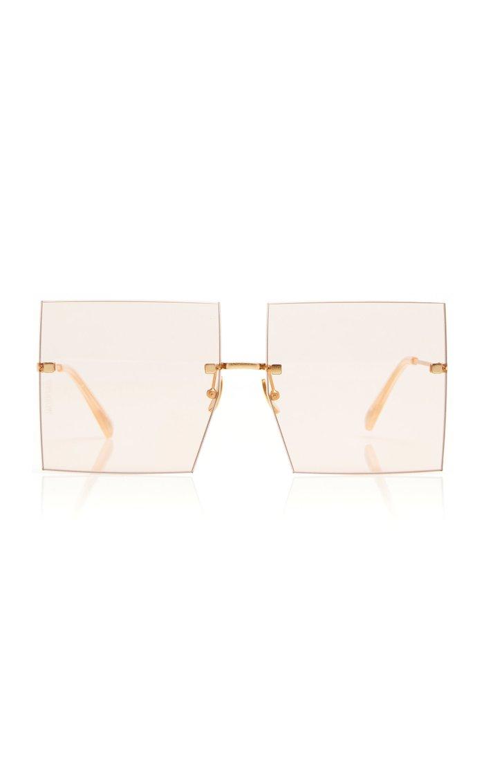 Les Carrés Riviera Silver-Tone Sunglasses