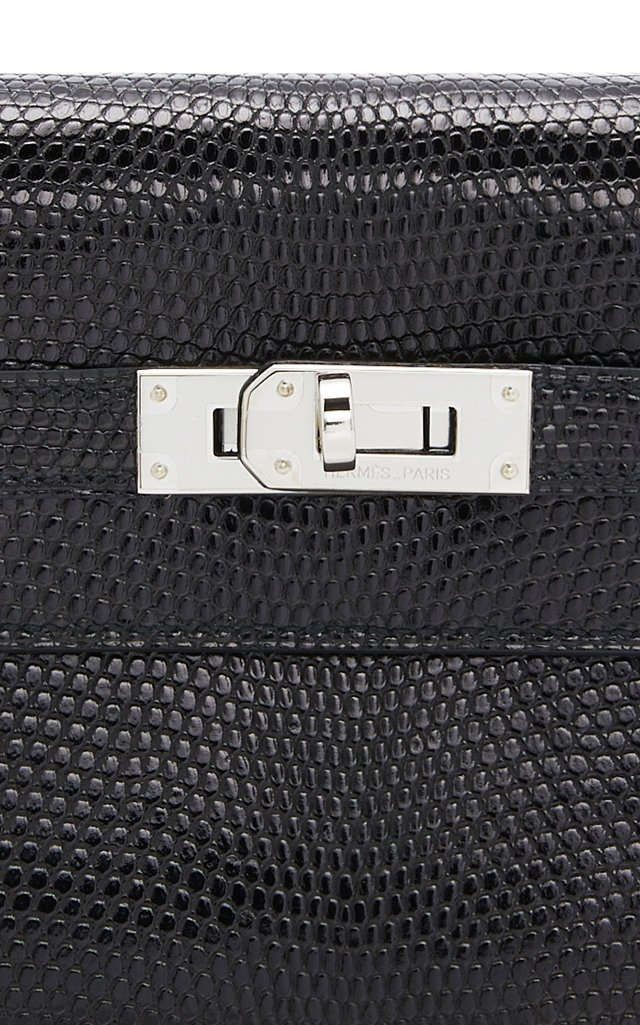 Hermes Black Lizard Kelly Wallet