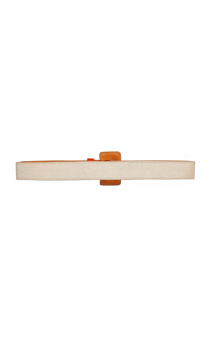 Leather And Canvas Waist Belt