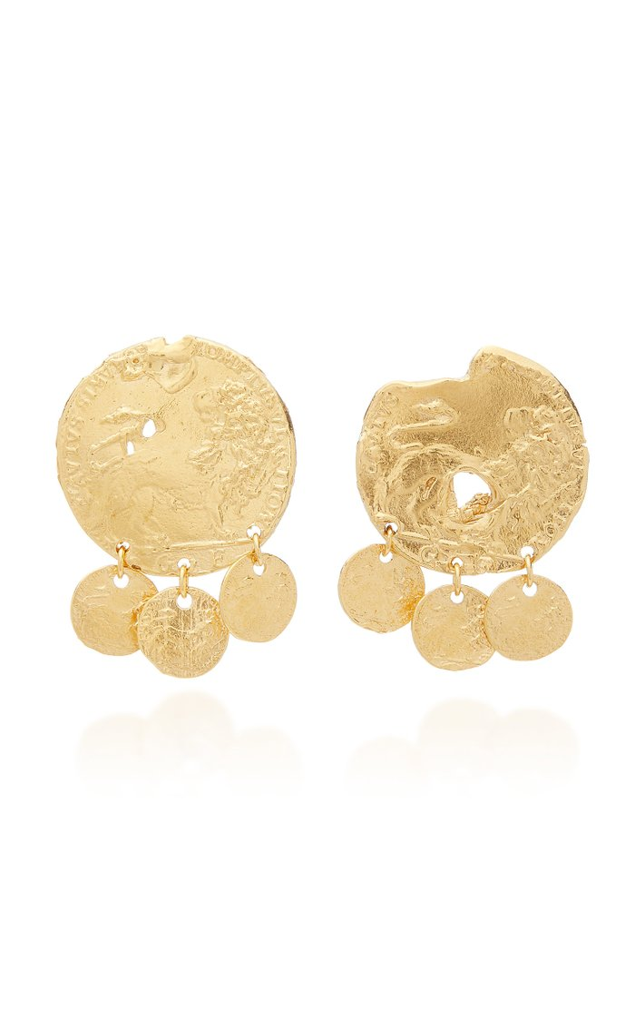 Baby Lion 24K Gold-Plated Earrings