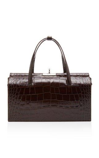 Margot Croc-Effect Leather Shoulder Bag