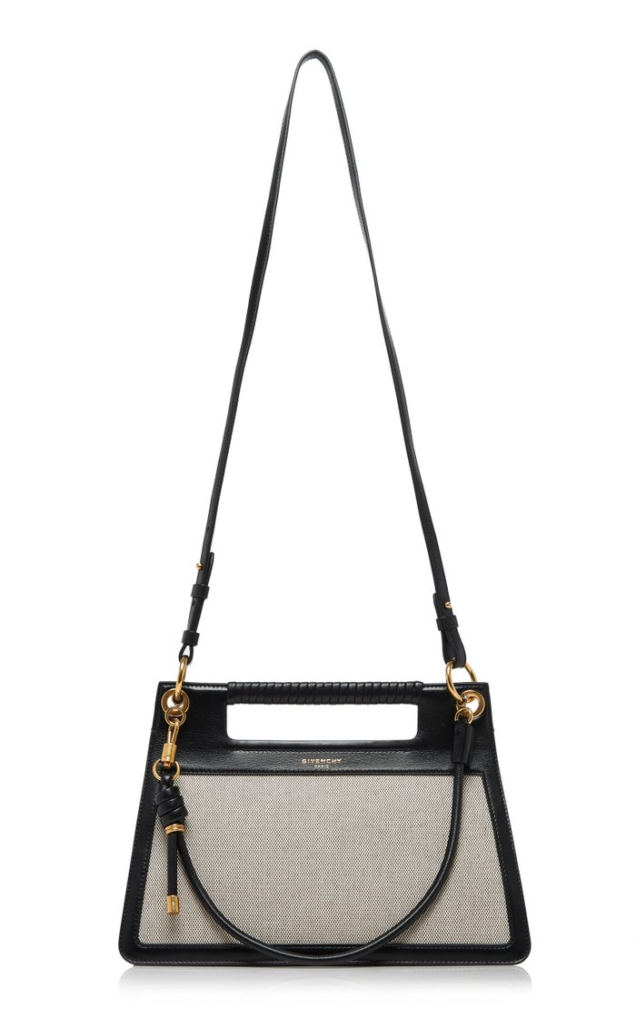 Whip Medium Knotted Canvas And Leather Shoulder Bag