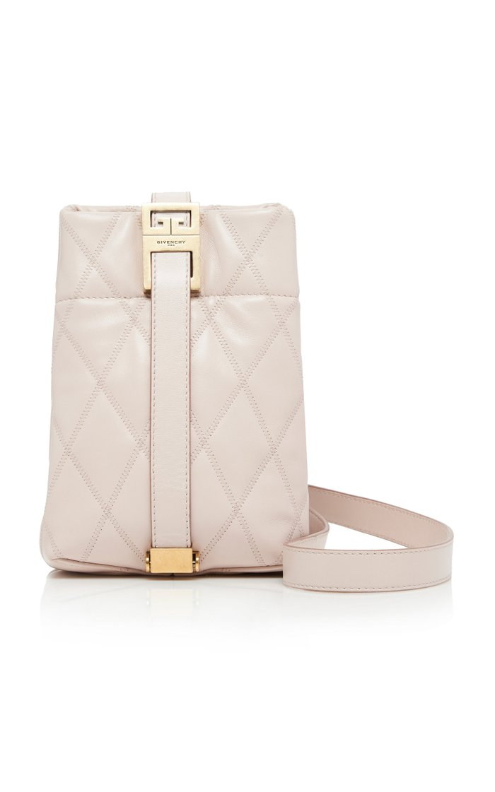 GV Mini Quilted Leather Bucket Bag