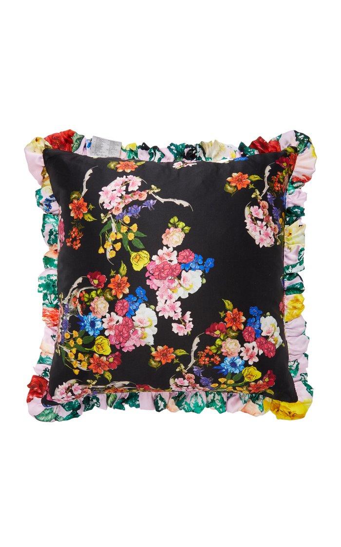 Printed Silk-Satin Pillow