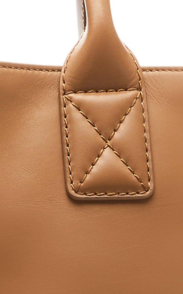 Maxi Cabat Leather Tote