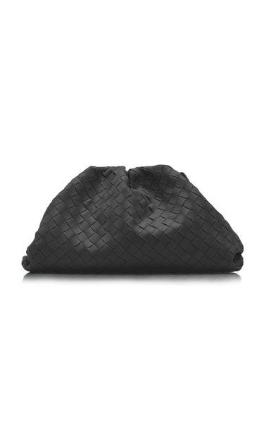 The Pouch Intrecciato Leather Clutch