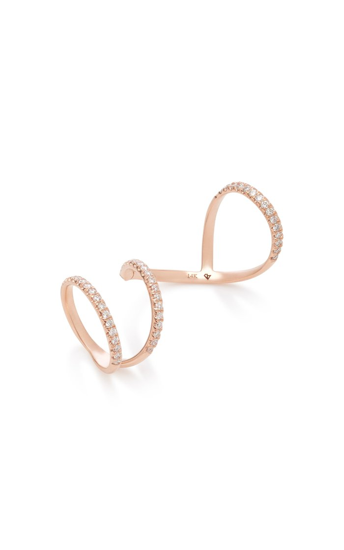 Arabesque 14K Rose Gold Diamond Ring