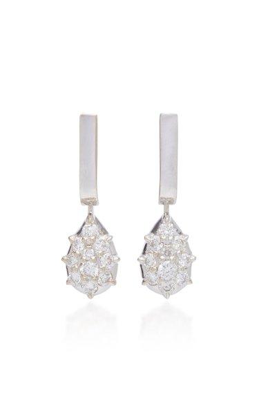 Fantom 14K White Gold Diamond Earrings