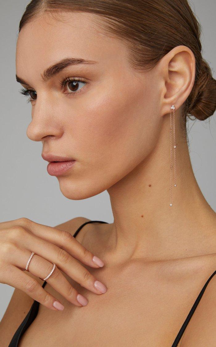 Poppy 14K Rose Gold Diamond Earrings