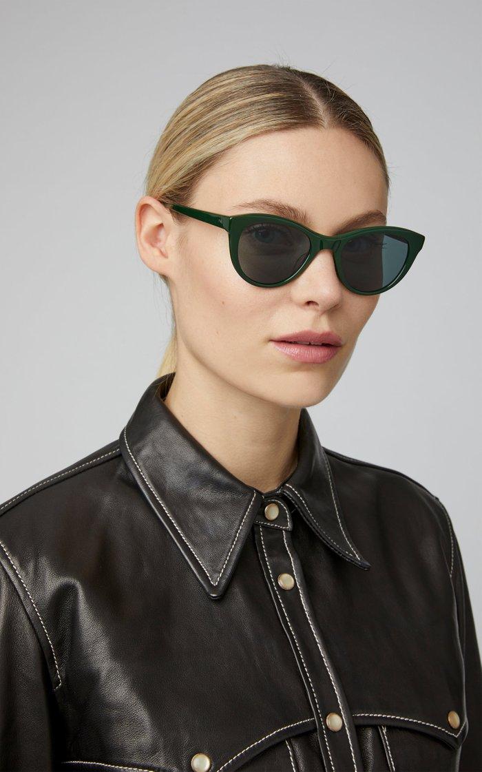 Garrett Leight X Clare V. Acetate Cat-Eye Sunglasses