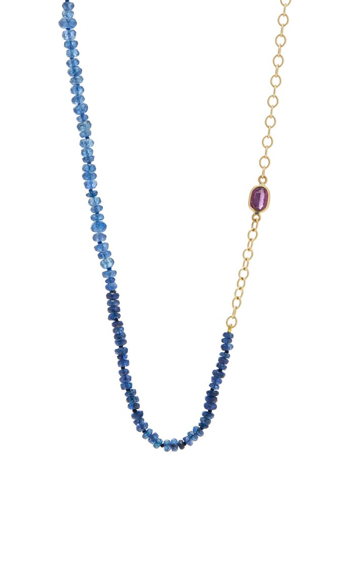 18K Gold Sapphire Necklace