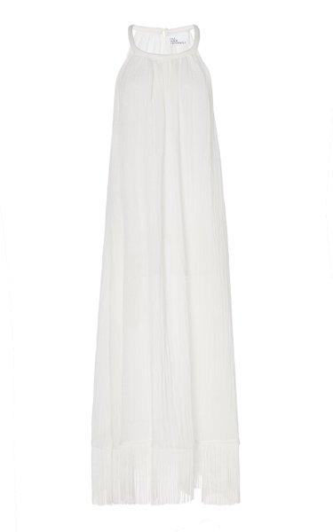 Ojai Fringe-Trimmed Linen-Blend Dress