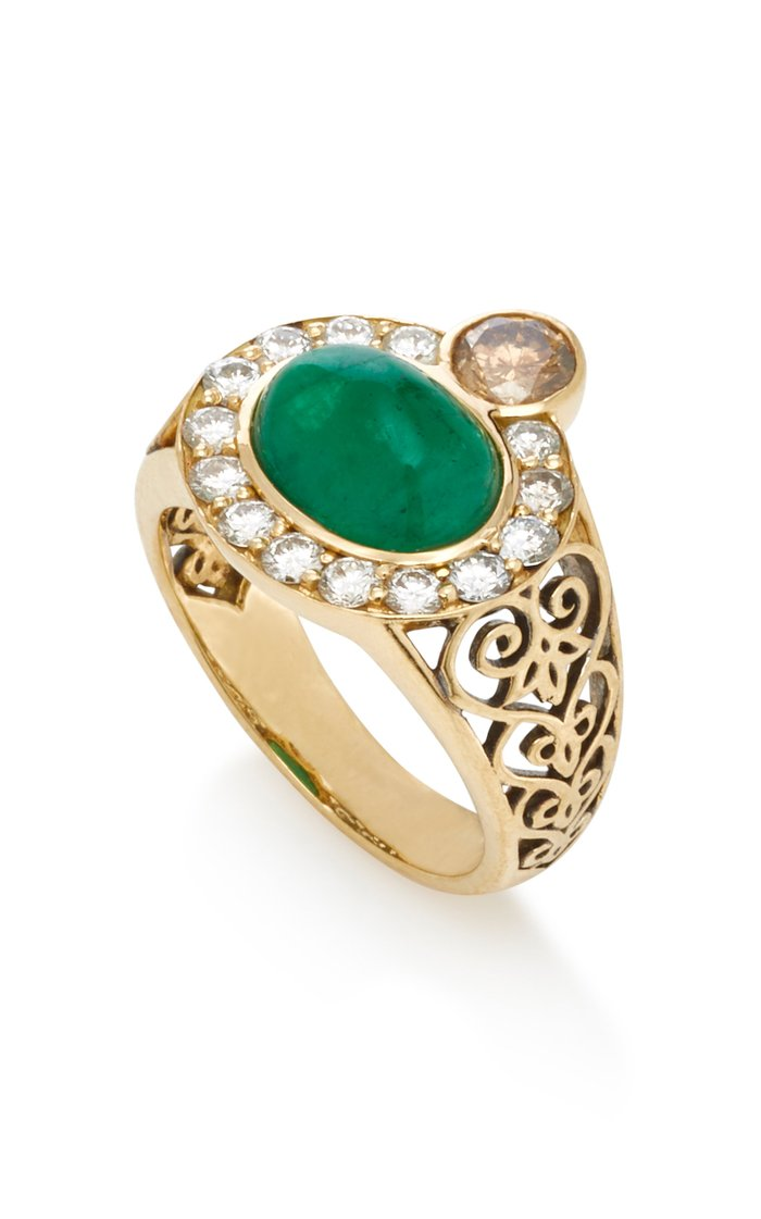 Composure 18K Gold, Emerald and Diamond Ring