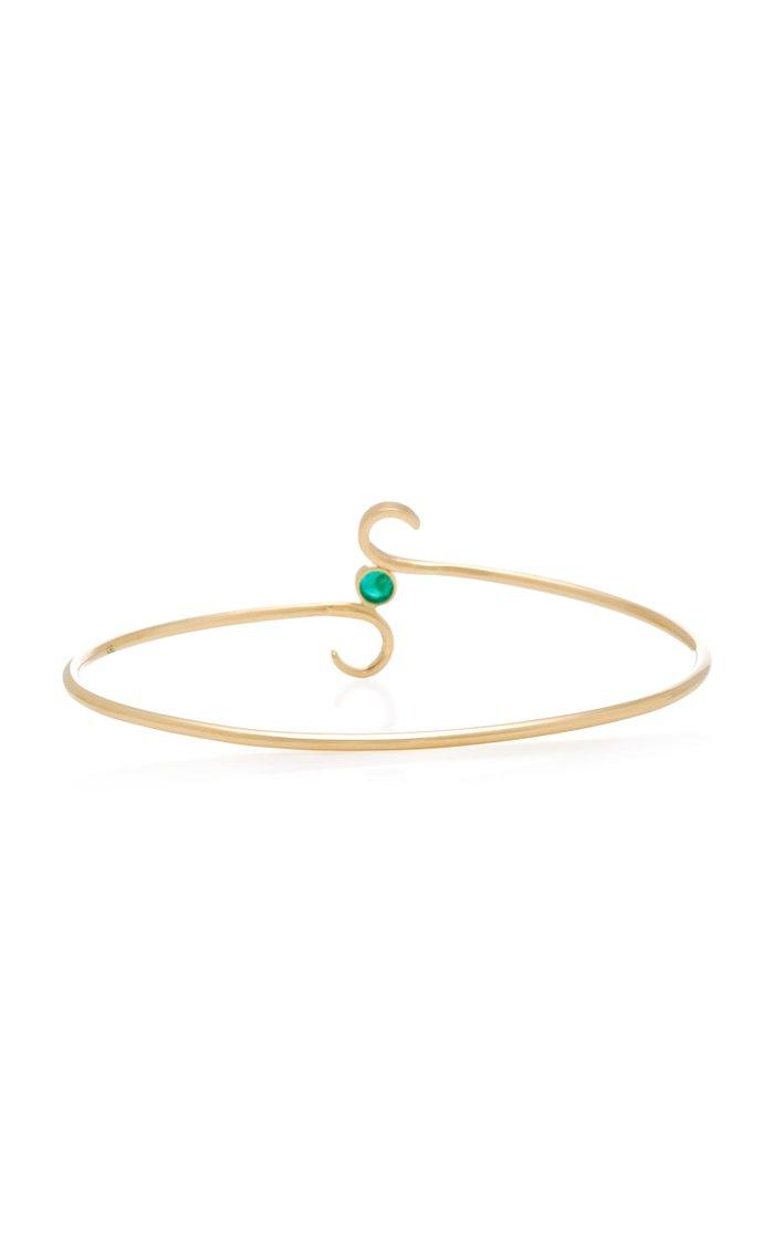 Love 18K Gold and Emerald Bracelet
