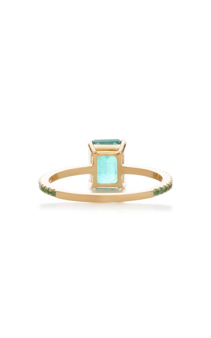 18K Gold Emerald Ring