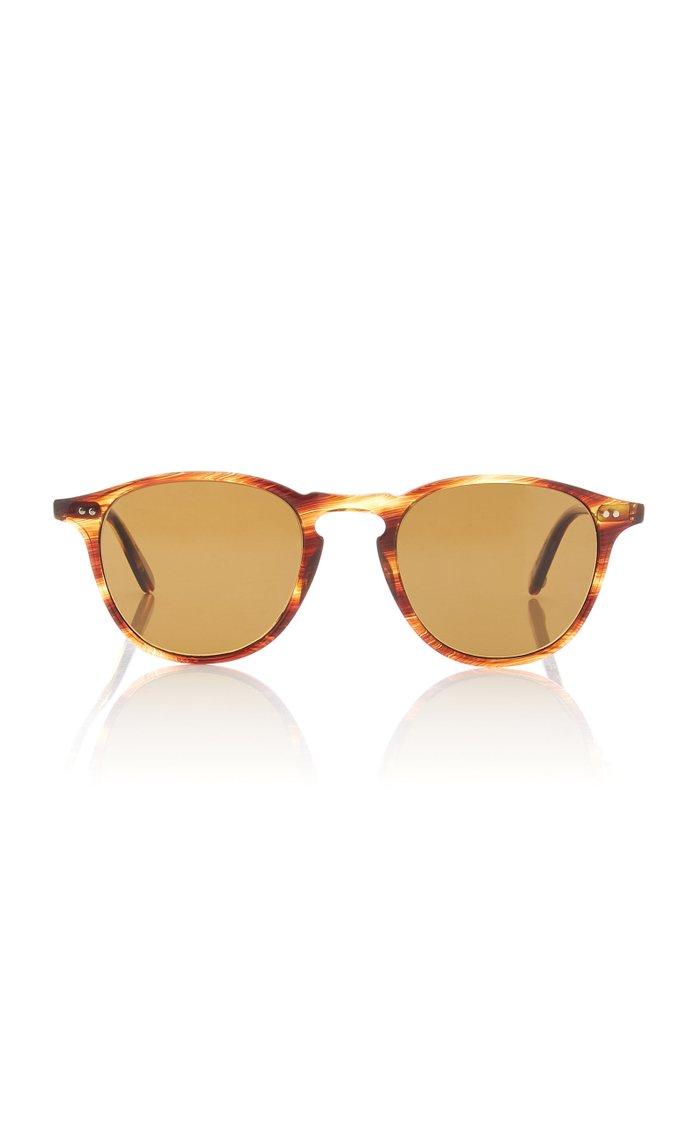 Hampton 46 Round-Frame Tortoiseshell Acetate Sunglasses