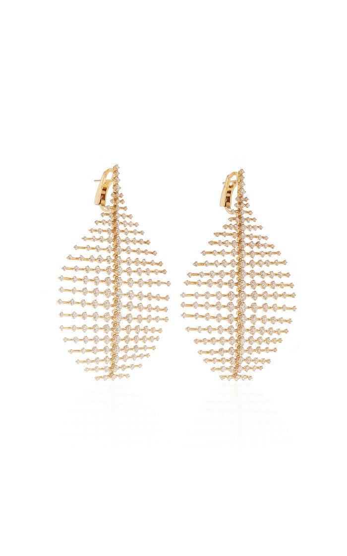 Disco 18K Yellow-Gold and Diamond Earrings