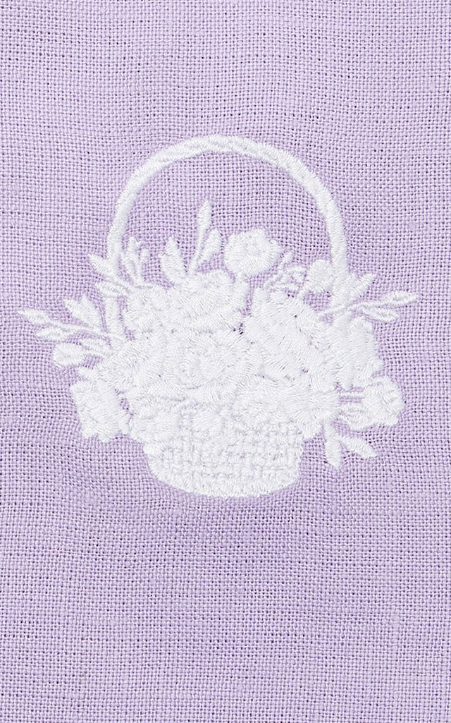 Exclusive Set-of-Four Basket Full of Flowers Cocktail Napkin