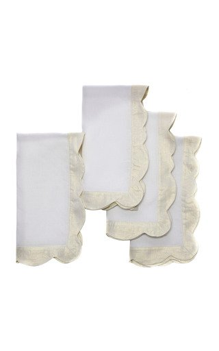 Exclusive Set-of-Four Hollywood Regency Dinner Napkins