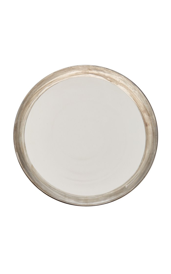 Exclusive Glamorous Moderne Silver Rim Charger